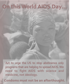Feminist majority world aids day