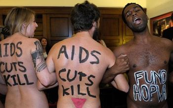 AIDS demonstrators